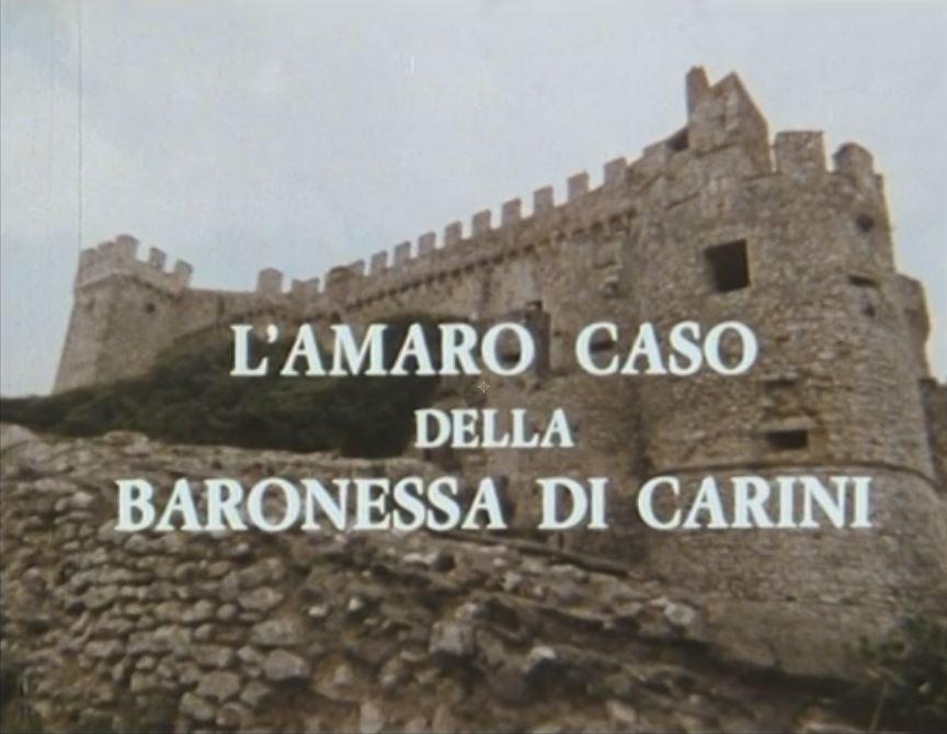 L'amaro caso delle Baronessa di Carini
